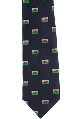 (Welsh Flag Dragon Silk Necktie Ties for Men)