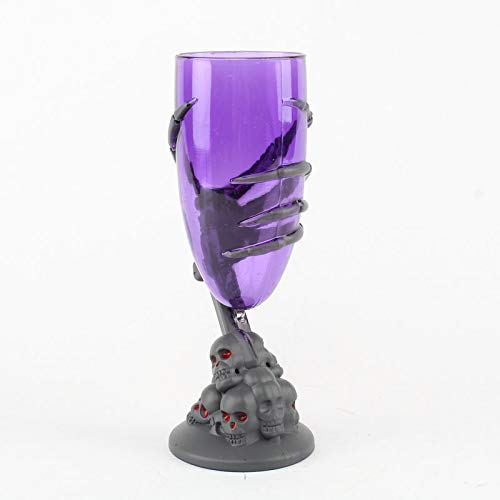 Halloween Plastic Wine Goblets (Fine Skull Cup,Glowing Claw Cup,Cool Beer Cup for Wine Cocktail Vodka,Coffee Mug, Heat-Resistant Milk Mug,Creative Home Halloween Party Bar Cup)