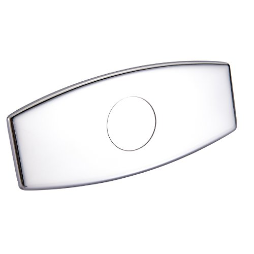 Chrome Stainless Steel Single - Regalmix 6-Inch Sink Faucet Hole Cover Deck Plate Escutcheon for Bathroom or Kitchen Single Hole Mixer Tap,SUS 304 Stainless Steel Polished Chrome, RWF076A