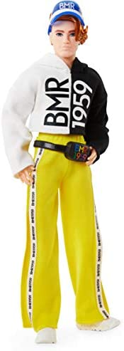 Barbie BMR1959 Fully Poseable Fashion Doll Wearing Color Block Windbreaker with Doll Stand