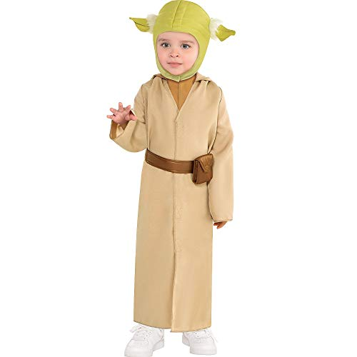 Suit Yourself Wise Yoda Halloween Costume for Toddler Boys, Star Wars, 3-4T, Includes Robe, Hat, and Belt]()