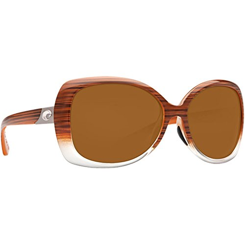 Costa Del Mar Sea Fan Women's Polarized Sunglasses, Wood Fade/Amber 580Plastic, - Womens Sunglasses 2014