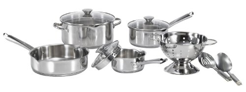 cookware set with straining lids - 3