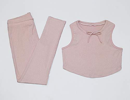 Set Pantalons 2pcs De Gilet Huateng Rose Femmes Gym tPw5dPqa