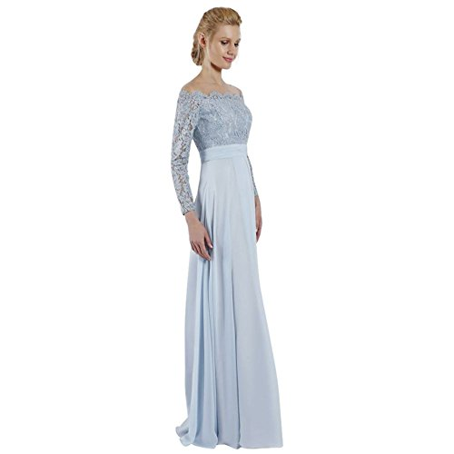 Blue Shoulder Style Gown Off Mother The Bodice Powder Lace Illusion Groom Bride qP1Zf