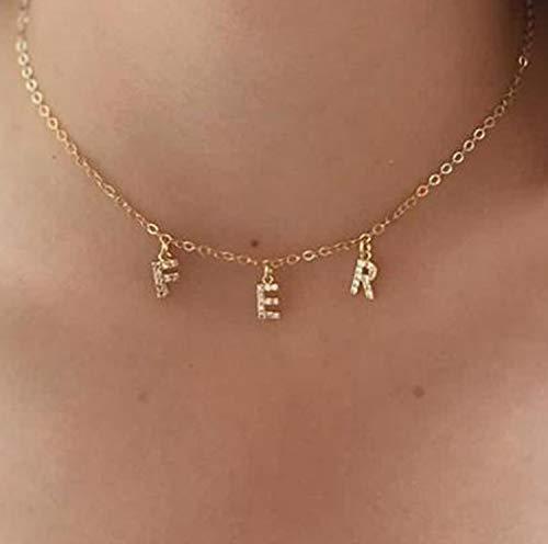 collier prenom initiale