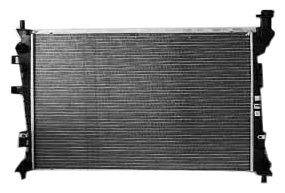 TYC 13087 Ford Focus 1-Row Plastic Aluminum Replacement Radiator - Ford Focus Radiator Fan