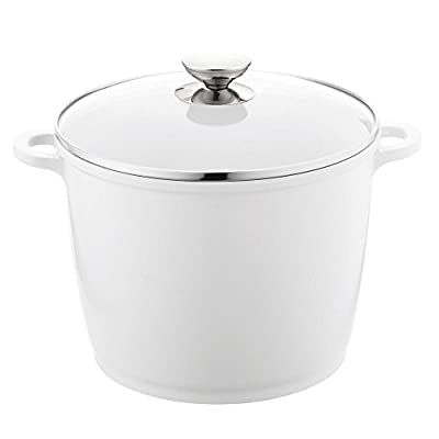 Berndes SignoCast 10 in. 7 Qt. Pearl Stock Pot with Lid - 2PC