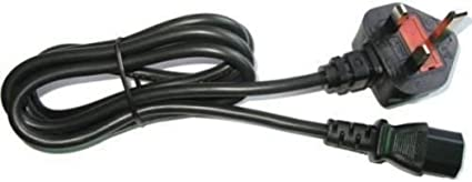 Official Microsoft Xbox 360 Slim power cable UK plug 2 pin genuine on