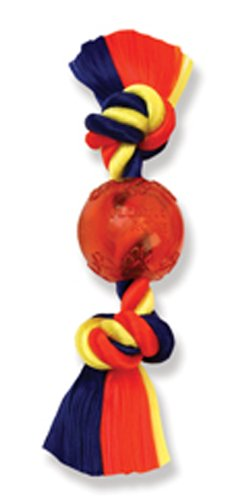 - Flossy Chews Poly Dri Rope Monkey Fist Ball, Medium, 4-3/4-Inch