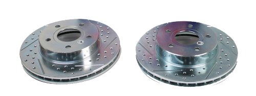 BAER 53024-020 Sport Rotors Slotted Drilled Zinc Plated Rear Brake Rotor Set - Pair