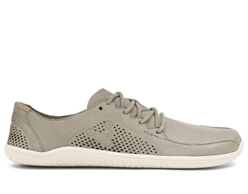 vivobarefoot Primus Lux, Womens Premium Leather Trainer, with Barefoot Sole Light Grey from vivobarefoot