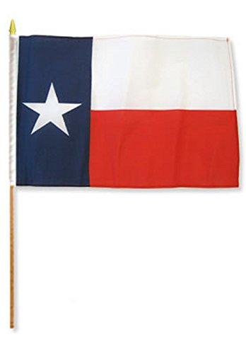 Quality Standard Flags STIBtexas One Dozen Texas Stick Flag, 12 by 18