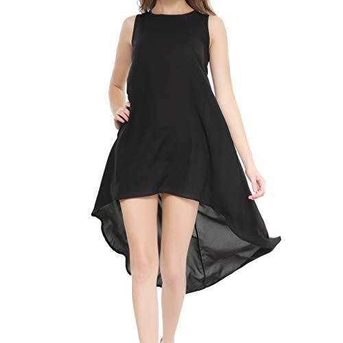 Vestidos Mujer, ASHOP Casual O-Cuello Irregular Sin Mangas Vestido ...