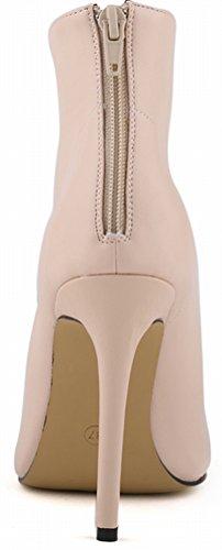 Salabobo - Zapatos con correa de tobillo mujer color carne