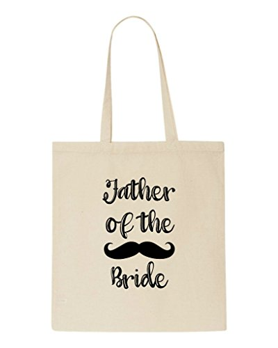 Party Wedding Father Bag Beige Engagement Bride The Tote Of Shopper Gift Moustache 6qSYSAIxgw