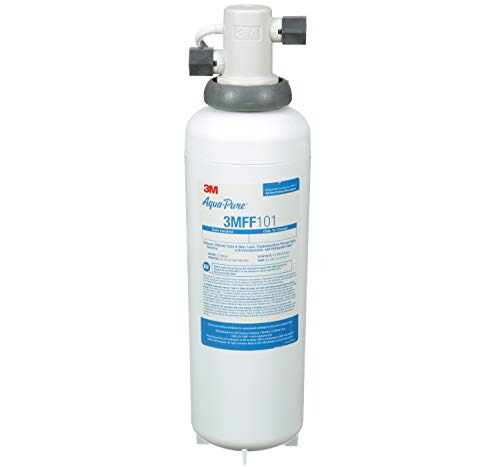3M Aqua-Pure Under Sink Full Flow Drinking Water Filter System 3MFF100, Sanitary Quick Change, Reduces Particulates, Chlorine Taste and Odor, Cysts, Lead, Select VOCs