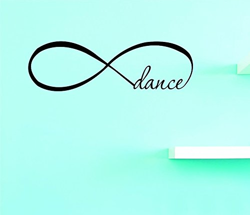 Design with Vinyl Top Selling Decals Infinity Dance Wall Art, 16'' x 40'', Black by Design with Vinyl