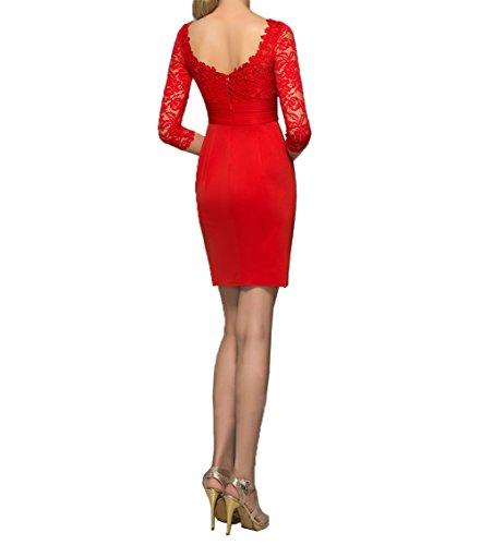 Gruen Mini Charmant Cocktailkleider Spitze Etuikleider Apfel Abendkleider Rot Partykleider Langarm Damen Promkleider rIPxP0E