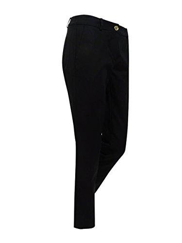 MICHAEL Michael Kors Womens Miranda Woven No Pocket Skinny Pants Black - Kors Michael Miranda