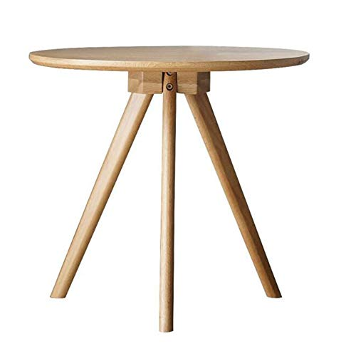 Tables Simple Round Stylish Office Lounge Table Home Balcony Small Table Multifunction Living Room CJC (Color : Wooden Color, Size : 50x50x45cm)