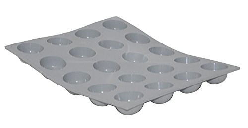ELASTOMOULE Silicone Mold, 20 Mini-Hemispheres, 8.25