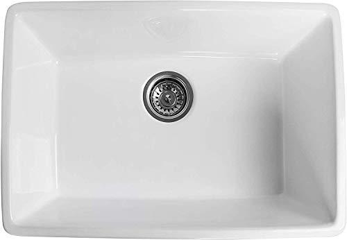 Farmhouse Kitchen ALWEN 24 inch White Farmhouse Kitchen Sink Fireclay Apron Front Sink Ceramic Single Bowl Laudry Sink Kitchen Sinks… farmhouse kitchen sinks