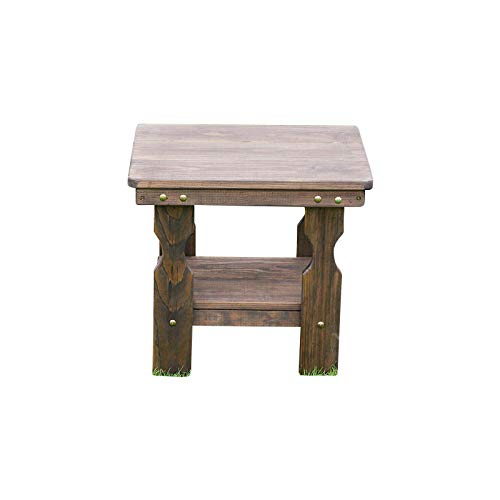 CAF Amish Heavy Duty Pressure Treated End Table Dark Walnut Stain