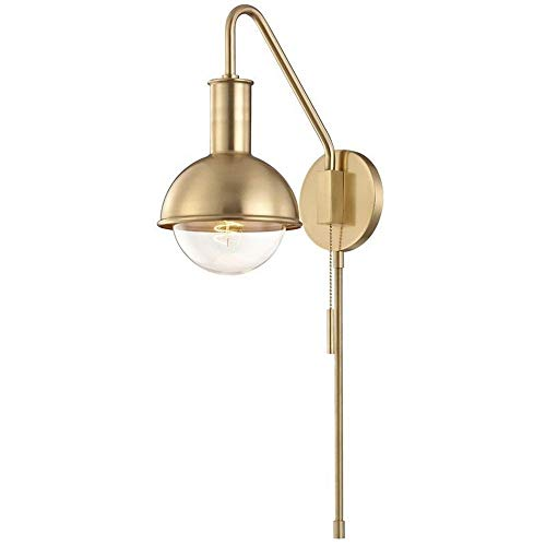 Hudson Valley Mitzi Riley Aged Brass Swing Arm Wall Lamp ()