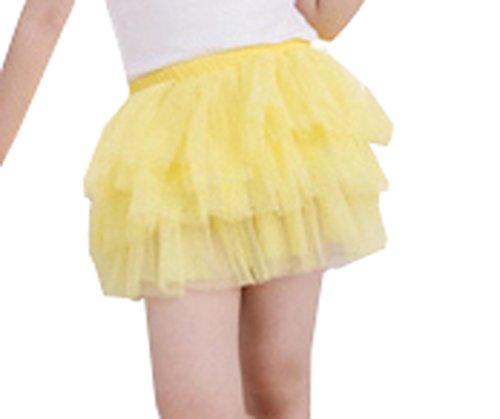 Waboats Winter Kids Girls Yarn Solid Mini Tutu Dress 3T Yellow