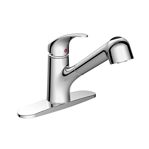 AOSGYA Pull-out Kitchen Sink Faucet - Single Handle Kitchen Faucet with Pull Down Sprayer Chrome, cUPC Certified ()