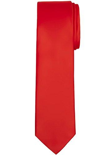 Jacob Alexander Solid Color Men's Regular Tie - Crimson Red ()