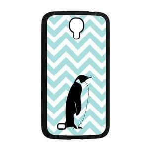 """Love Penguins Aqua Zig Zag Cute Hipster Aqua Silicon Bumper Samsung Galaxy Mega 6.3"""" i9200 Case - Fits Samsung Galaxy Mega 6.3"""" i9200"""
