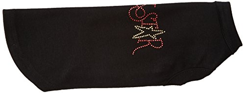 Mirage Pet Products Rock Star Rhinestone Pet Shirt, Medium, Black