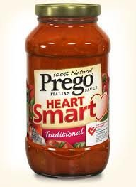 Prego Heart Smart Italian Sauce 23.5oz Jar (Pack of 4) Choose Flavor Below (Traditional) by Prego (Prego Heart)