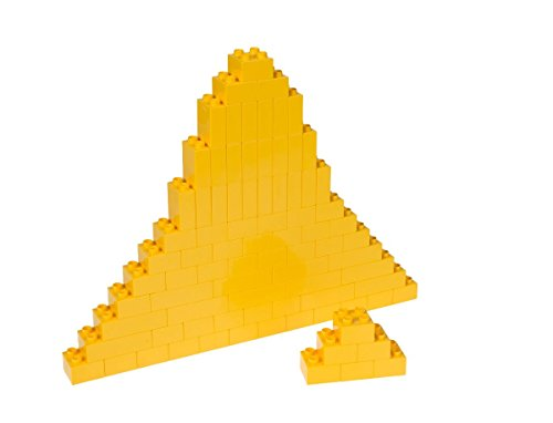 Strictly Briks Classic Big Briks Building Brick Set 100% Compatible with All Major Brands | 3 Large Block Sizes for Ages 3+ | Premium Yellow Building Bricks | 84 Pieces