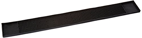 Winco 27-Inch x 3.25-Inch Bar Mat, Black
