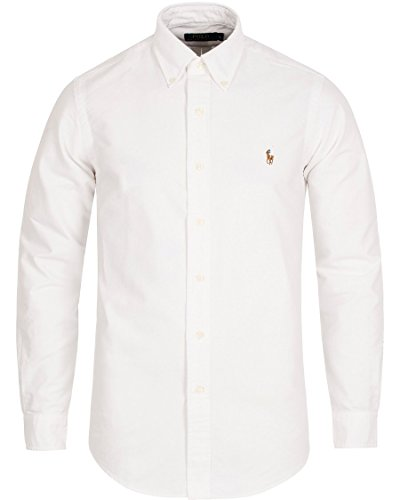 Ralph Lauren Men Solid Sport Oxford Shirt  Xx Large  White