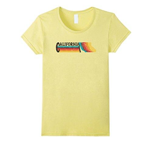 STYLE CALIFORNIA Rainbow Silhouette TShirt Medium Lemon (California Yellow T-shirt)