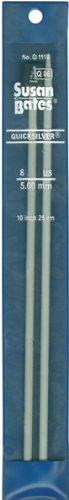 (Susan Bates 10-Inch Quicksilver Single Point Knitting Needle, 4.5mm)