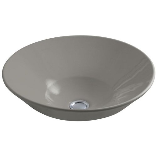 Kohler K-2200-G-58 CONICAL Bell Vessel or Wall-Mount Bathroom Sink with Glazed Underside Thunder Grey, One Size (Conical Bell)