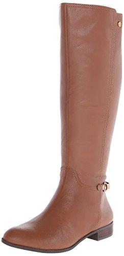 AK Anne Klein Women's Kacey Leather Riding Boot, Cognac, 9.5 M US