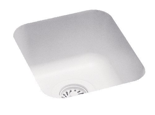 Swanstone US-1210-010 13-1/2-Inch by 15-1/2-Inch Undermount Entertainment Bar Sink, White Finish by Swanstone