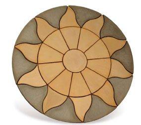 concrete circles patio