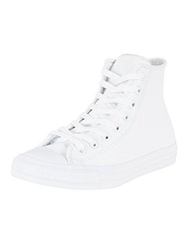 Converse Men's All Star Chuck Taylor Leather Hi White Basketball Shoe 13 Men US