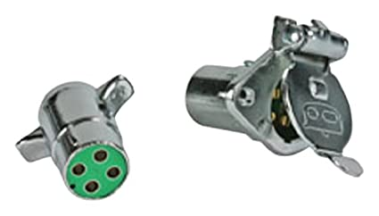Camco 64860 6-Way Square Complete Trailer Connector