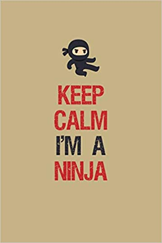 Keep Calm Im A Ninja: Blank Paper Sketch Book - Artist ...