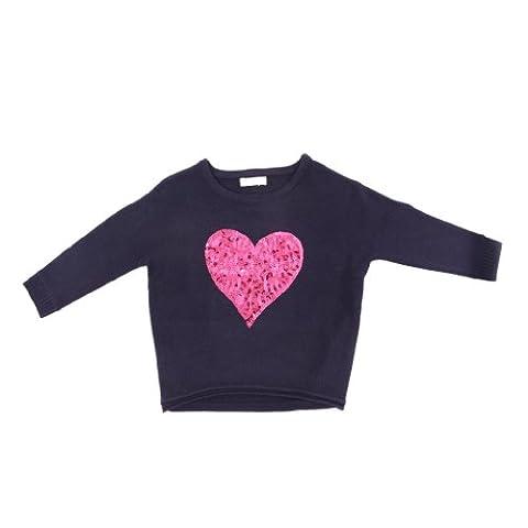 Pinc Premium Little Girls' Dolman Sleeve Pull Over 2T Navy (Pinc Premium Toddler)