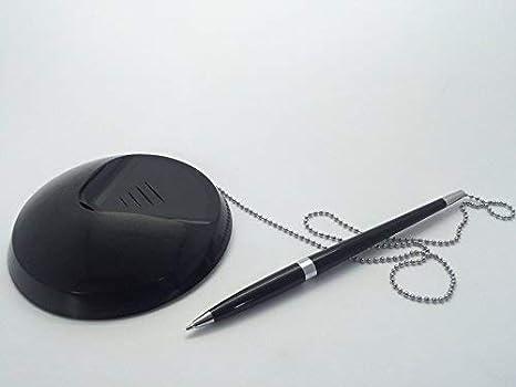 Soporte de escritorio / recepción para bolígrafo con cadena ...