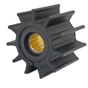 "The Amazing Quality Jabsco Impeller Kit - 12 Blade - Neoprene - 3190;"" Diameter - Brass Insert - Spline Drive"